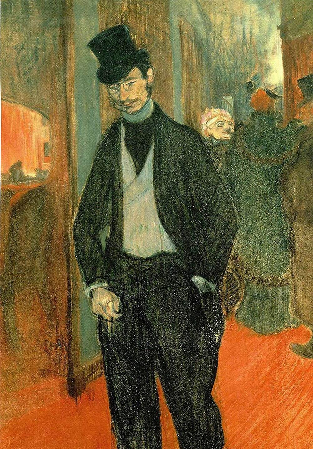 Toulouse-Lautrec, Gabriel Tapie de Celeyran in a Theatre Corridor, 1894