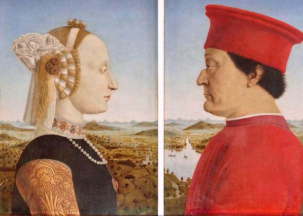 Piero della Francesca, Duke and Duchess of Urbino, 1473-75