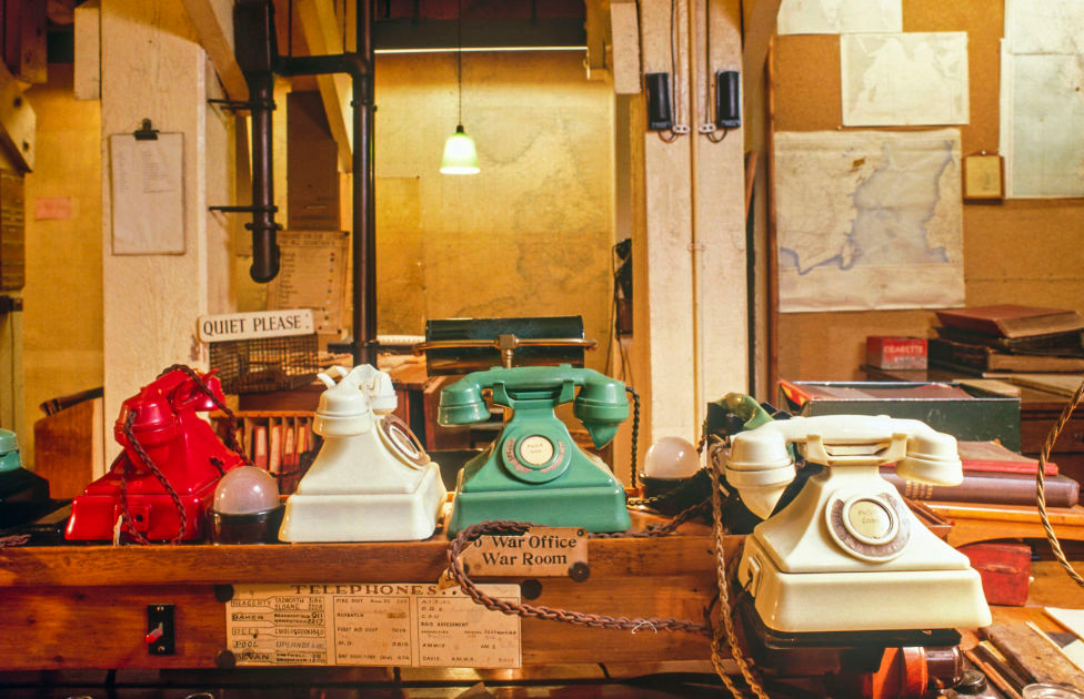 """the """"beauty chorus"""" of the color coded telephones"""