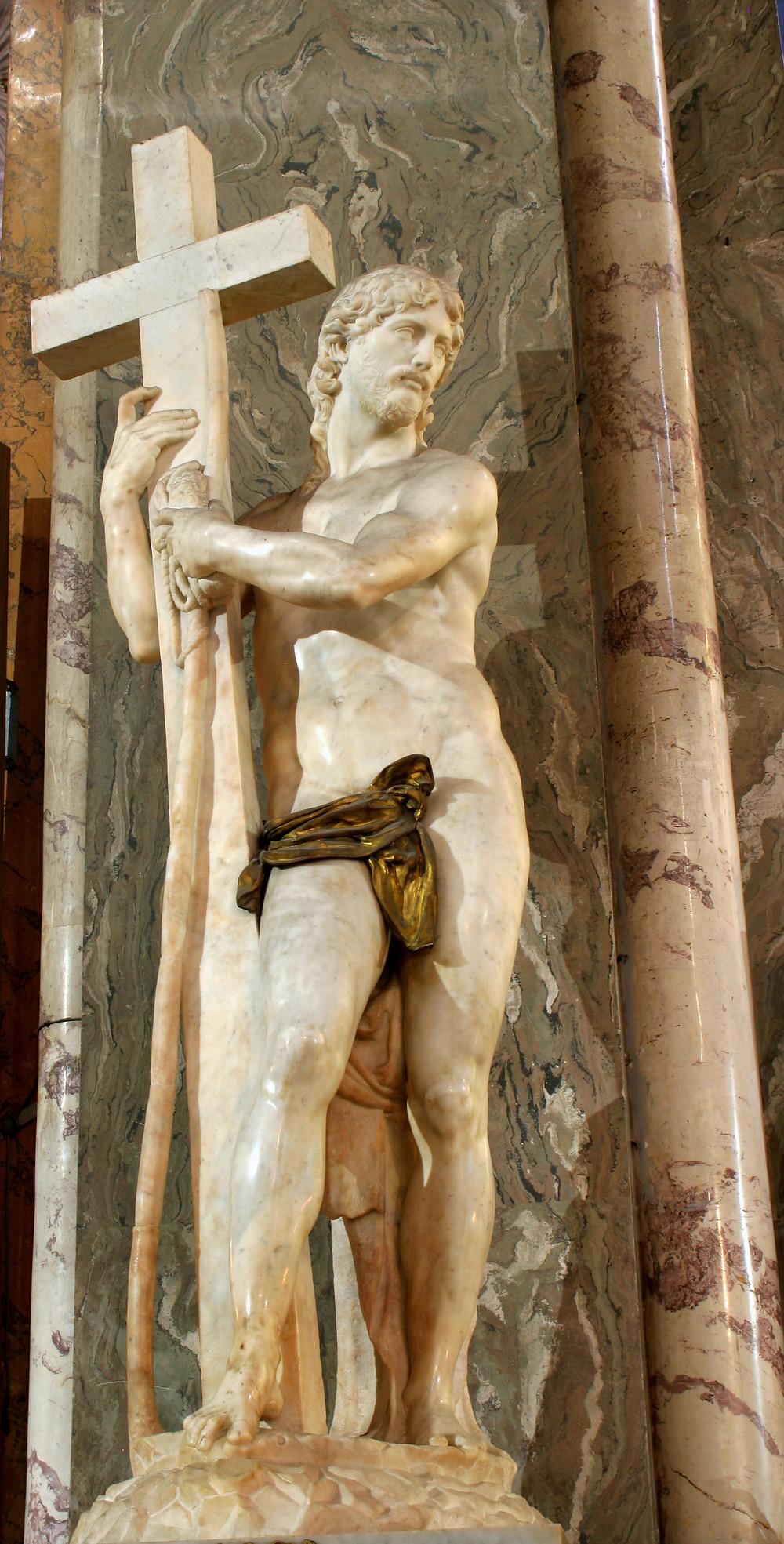 Michelangelo Sculpture of Christ Bearing the Cross