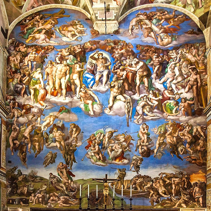 The Last Judgment on the altar wall