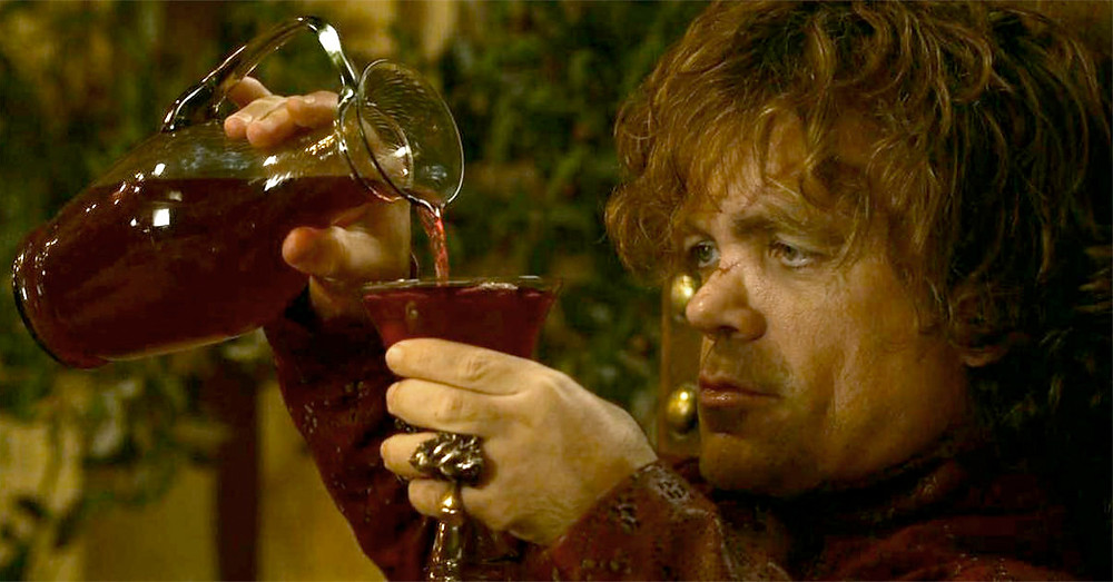 Tyrion Lannister drinks and knows things