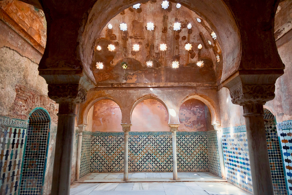 the Royal Baths in the Nasrid Palace