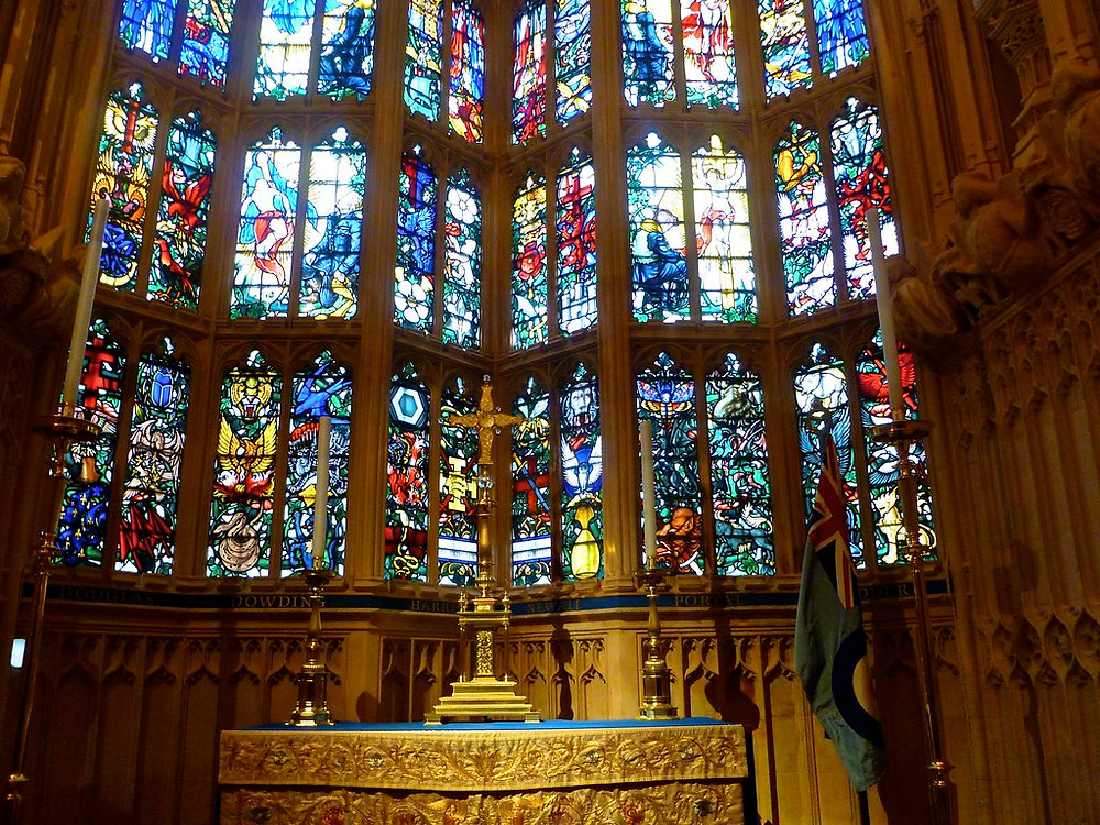 stained windows in the Henry VII Chapel