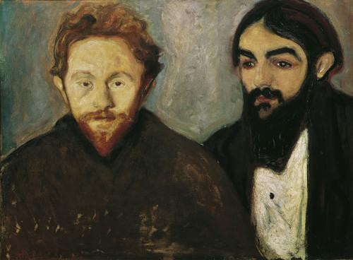 Edvard Munch, The Painter Paul Hermann and the Doctor Paul Contard, 1897