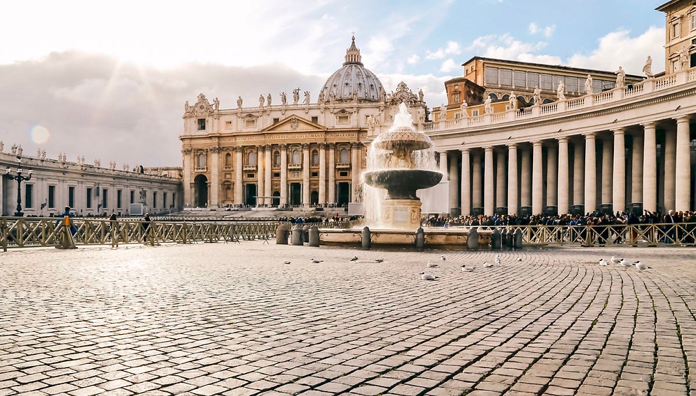 St. Peter's Square and St. Peter's Basilica in Rome