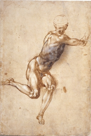 Michelangelo study for the Battle of Cascina in the British Museum