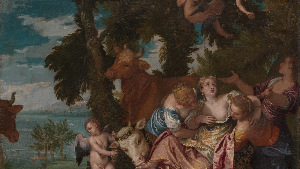 Paolo Veronese, Rape of Europa, 1570 -- in the Doge's Palace