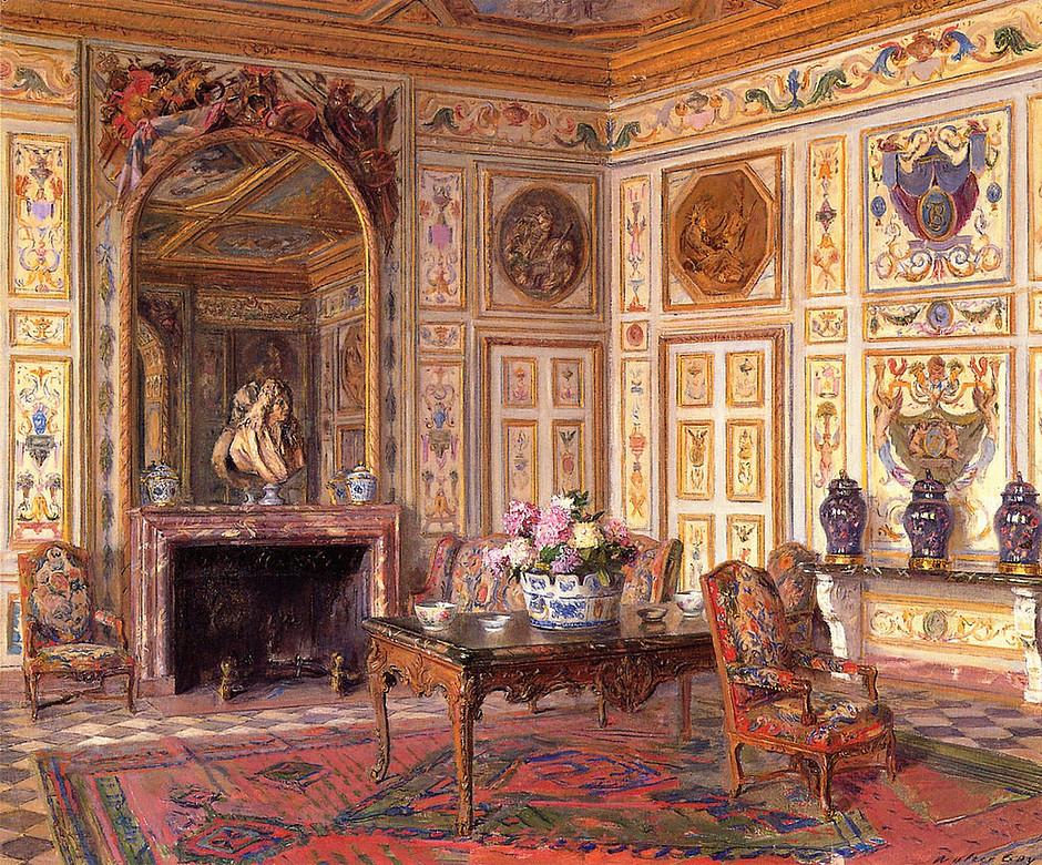 the Summer Salon of Chateau Vaux le Vicomte