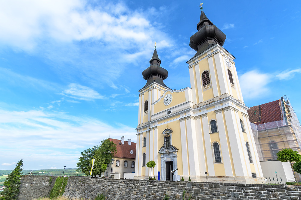 Maria Taferl Basilica in the Wachau Valley in Austria, just past Melk Abbey