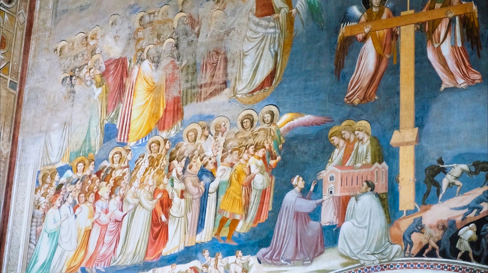 "the ""heaven"" side of The Last Judgment in the Scrovegni Chapel"