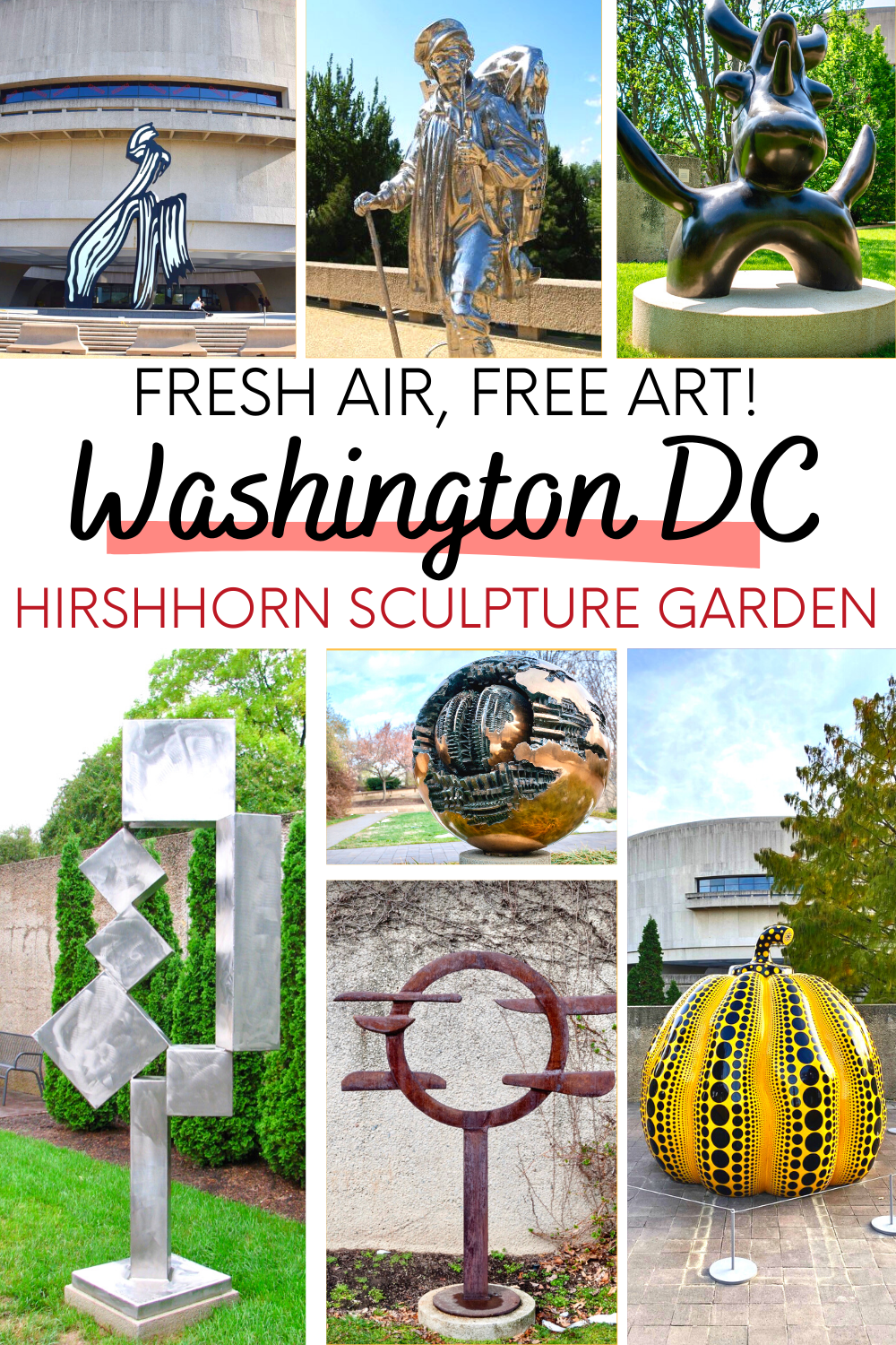 Visiting the Hirshhorn Sculpture Garden in Washington DC