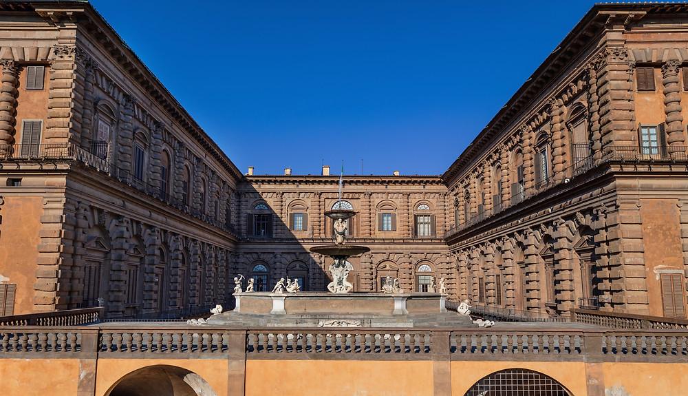 the Artichoke Fountain in Palazzo Pitti