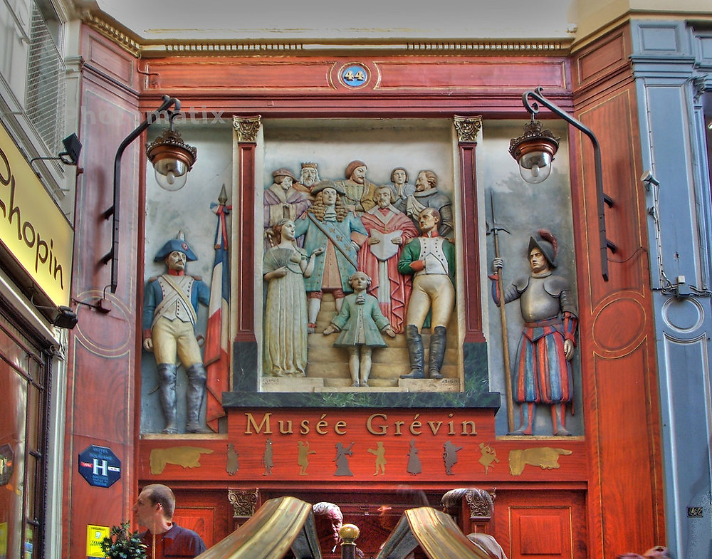 entrance to the Musée Grévin in the Passage Jouffroy