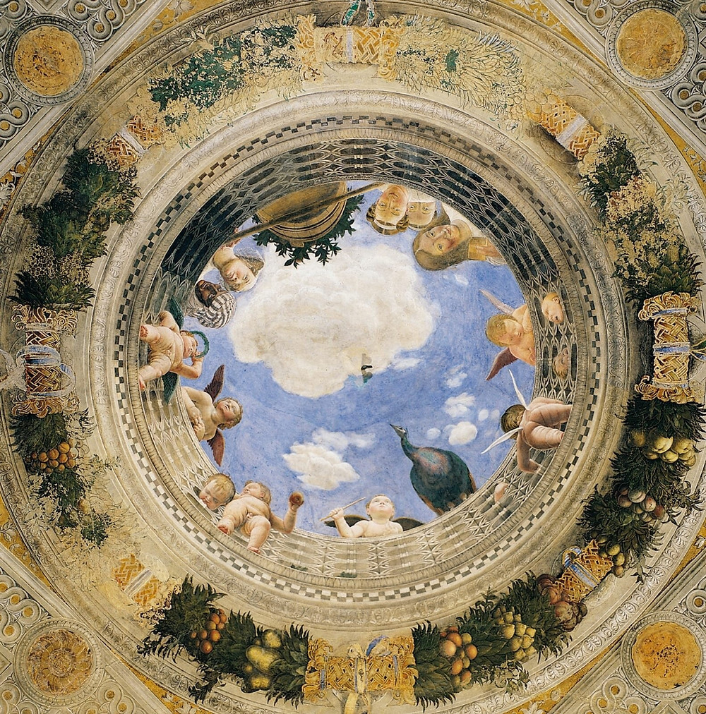 the oculus of the Camera degli Sposi