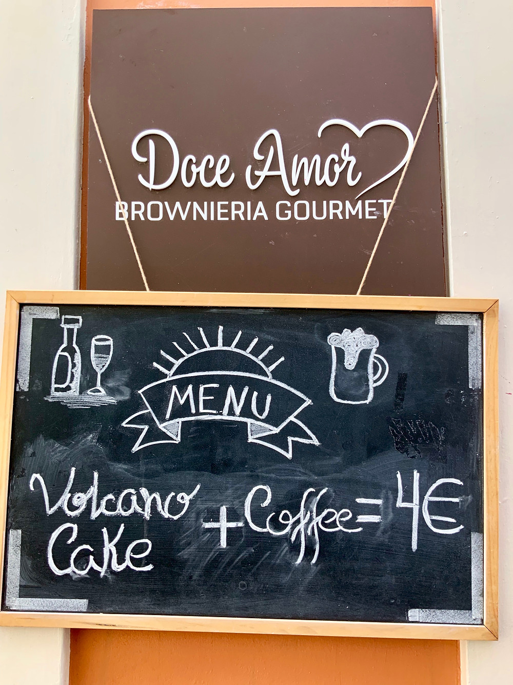 a gourmet brownie shop in Coimbra, Doce Amor