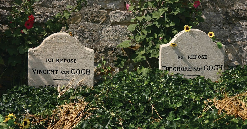 Van Gogh and his brother Theo's graves in Auvers-Sur-Oise