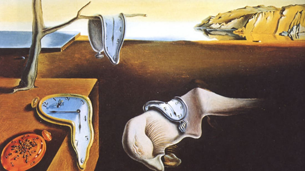 Salvador Dali, The Persistence of Memory, 1931 -- his most famous painting, in New York's Museum of Modern Art