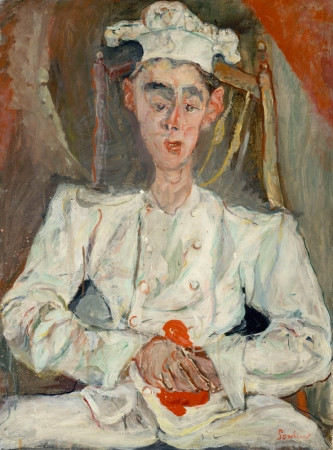 Chaim Soutine, The Little Pastry  Cook, 1922-23 -- this painting of a big eared chef put Soutine on the map and changed his fortunes.
