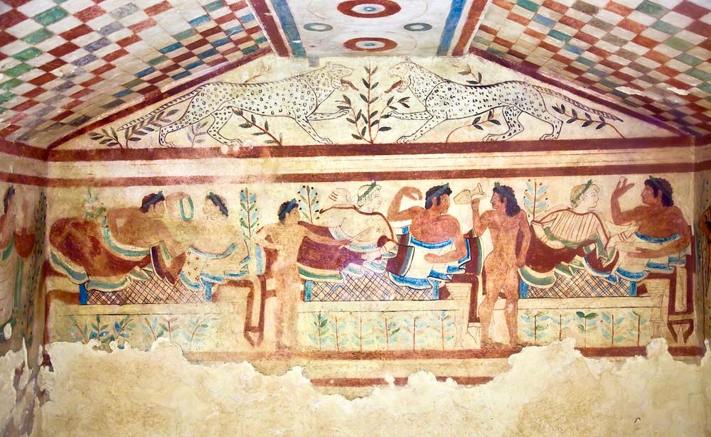 fresco in the Necropolis of Tarquinia