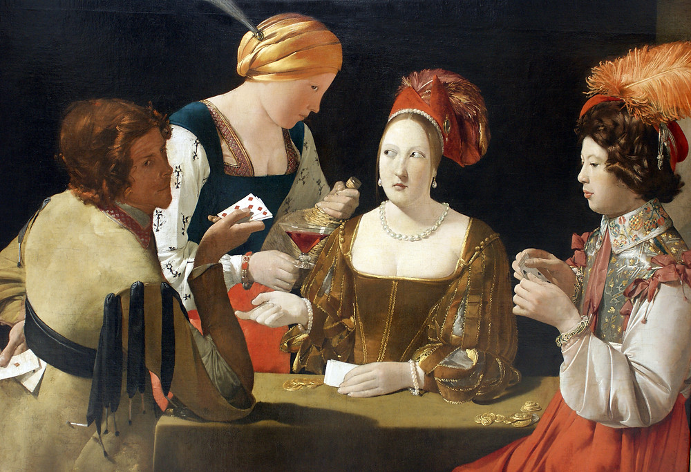 The Cheat With the Ace of Diamonds by George de la Tour at the Louvre