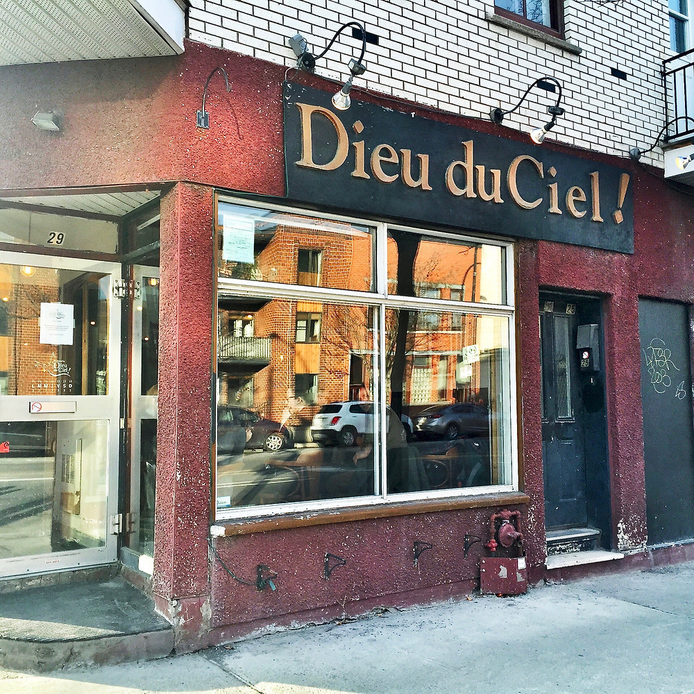 Dieu du Ciel micro brasserie in the Outremont neighborhood