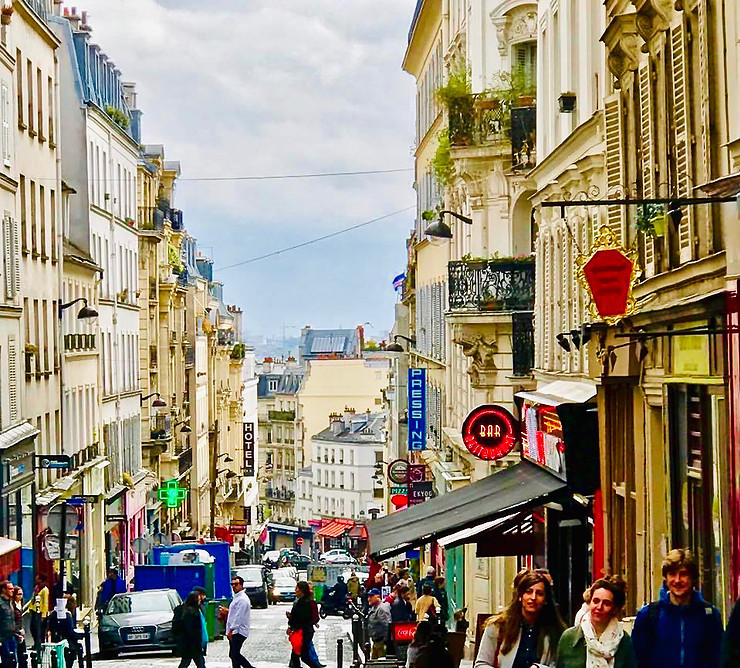 the bustling and charming Rue des Martyrs
