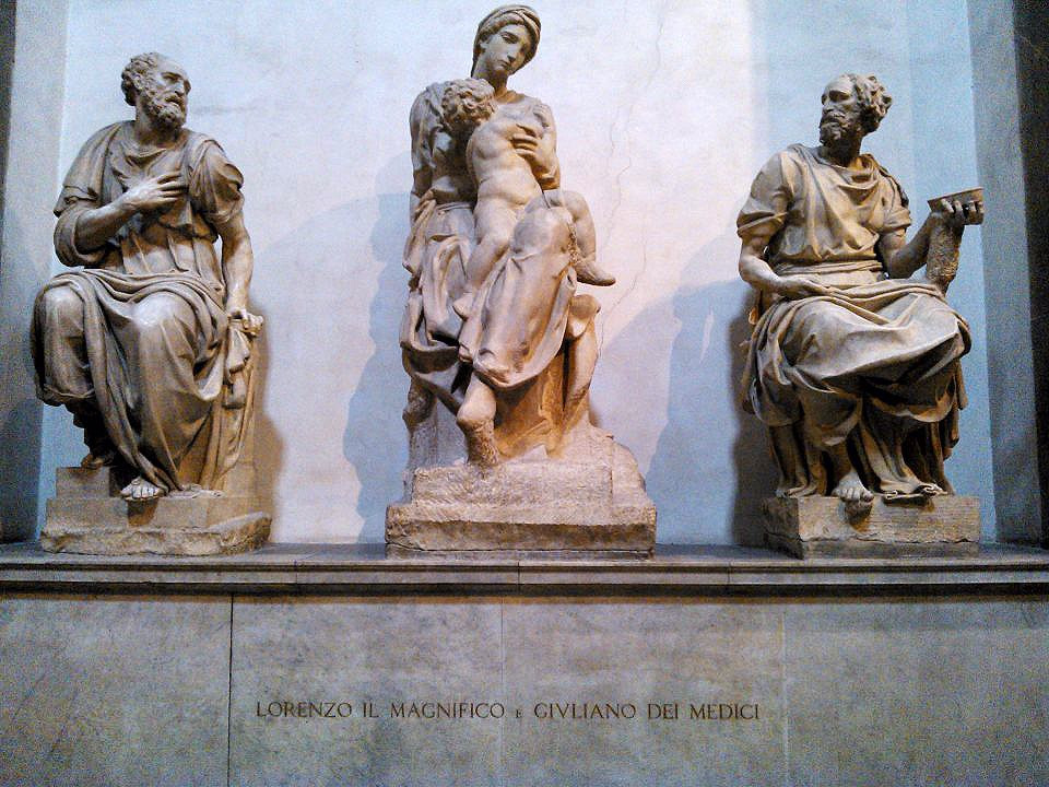 Michelangelo's Madonna With Child, above the Tomb of Lorenzo the Magnificent
