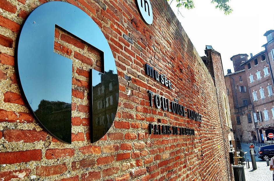 entrance to the Toulouse-Lautrec Museum, a must see site in Albi