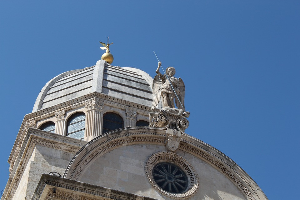 the dome of St. James Cathedral in Sibenik