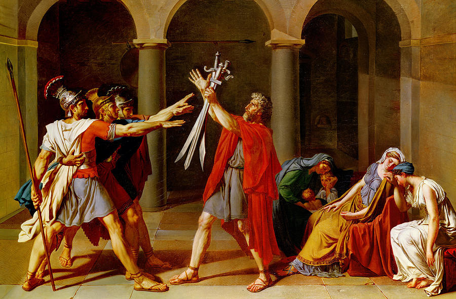 Jaques Louis David, Oath of the Horatti, 1784