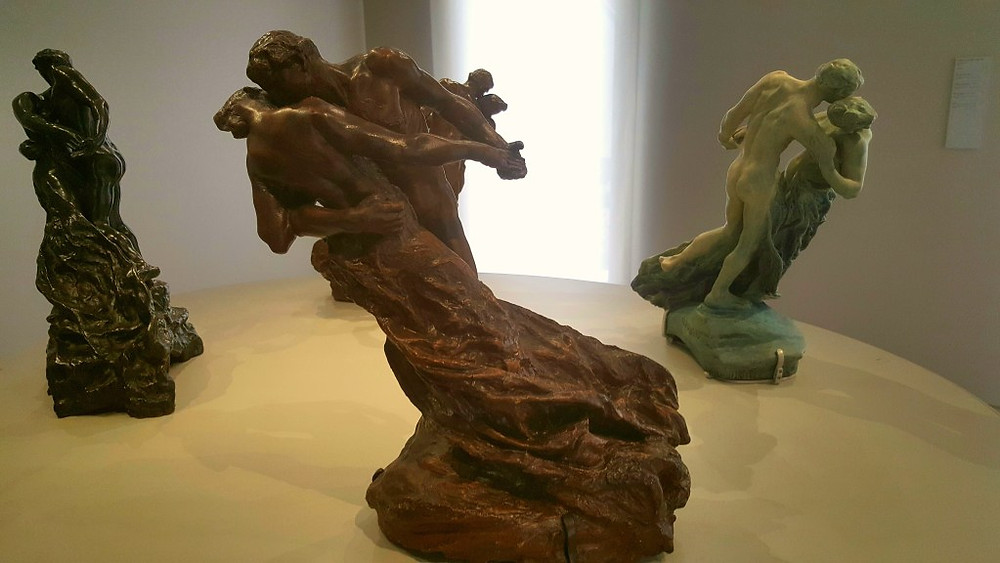 four of Camille Claudel's versions of The Waltz