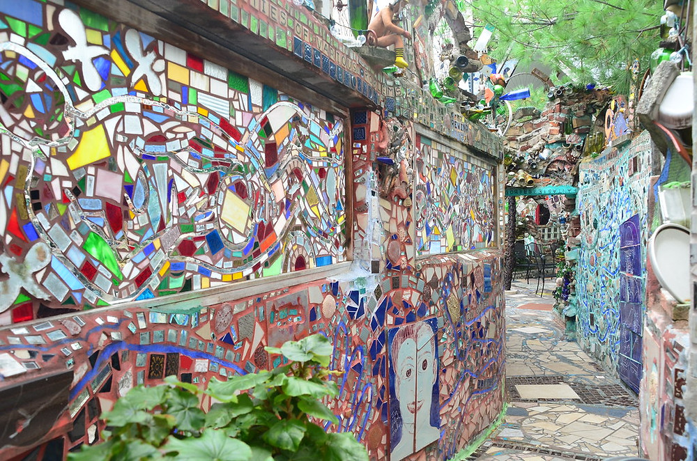 the Magic Garden, tunnel leading to a courtyard