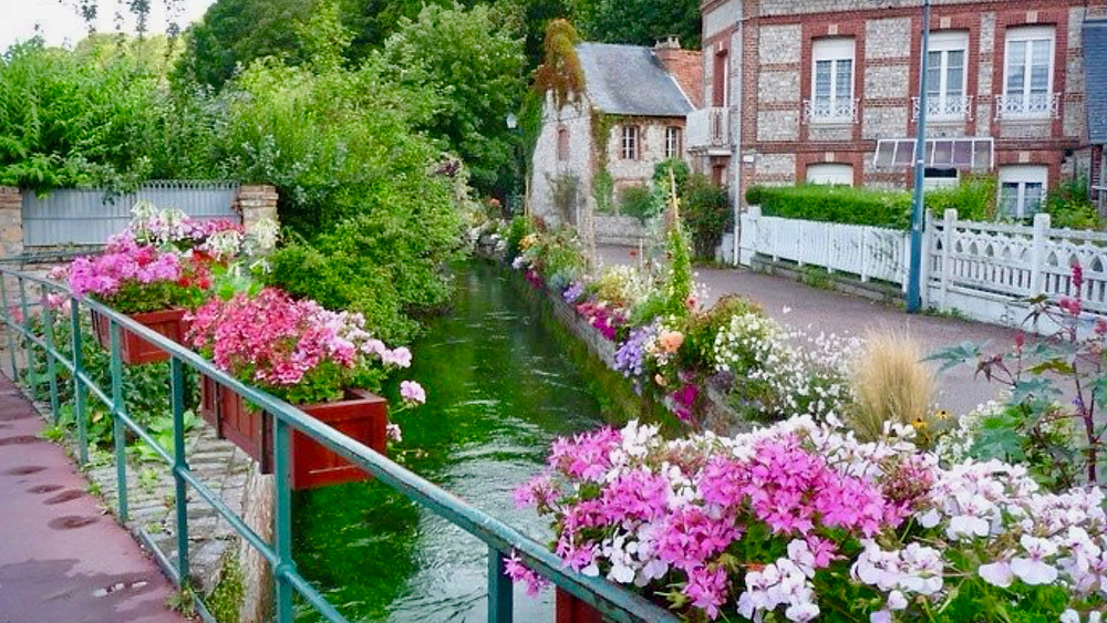 River Veules in Veules-les-Roses Normandy