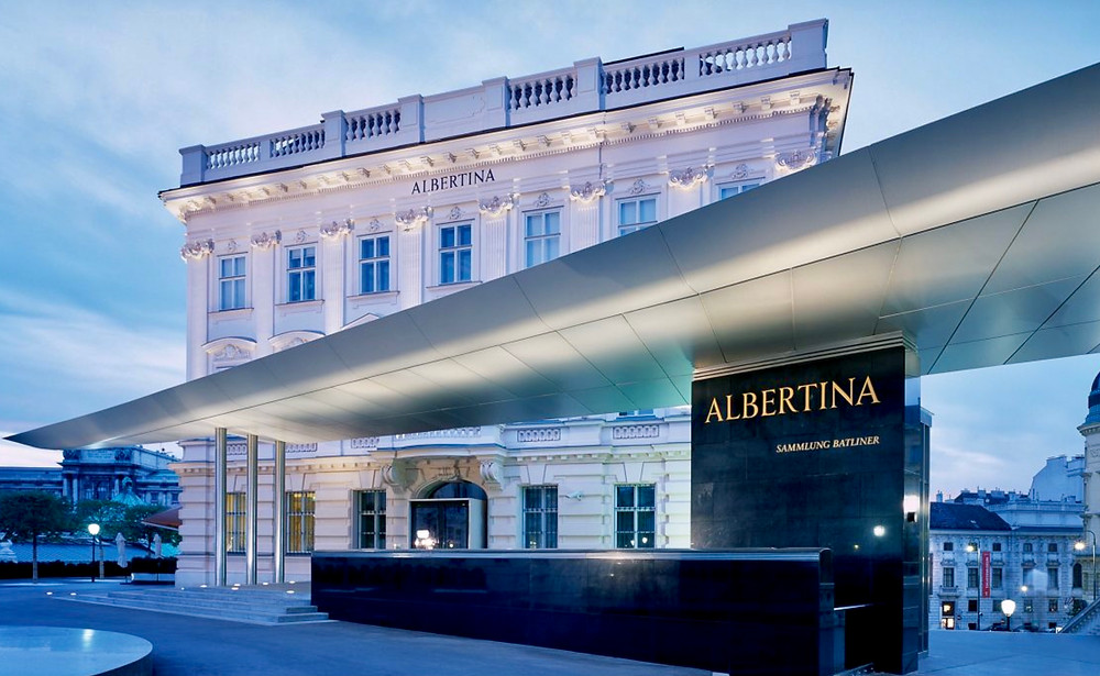 the Albertina Museum, in the southern tip of the Hofburg Palace