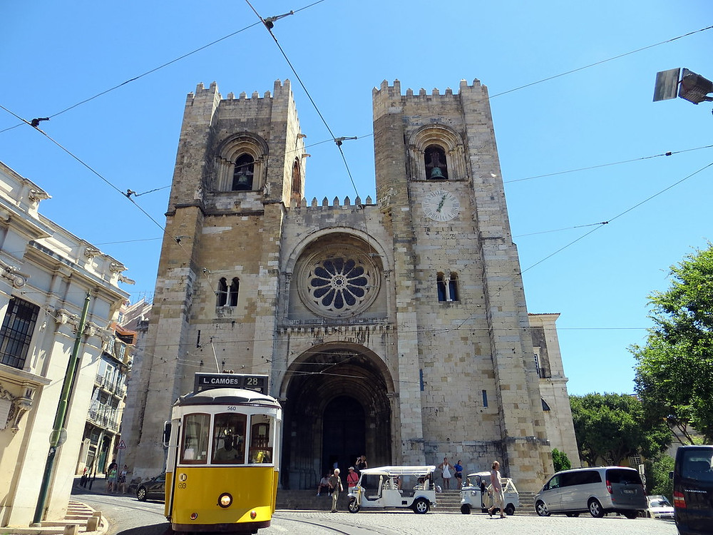 Lisbon's Sé Cathedral and Tram 28