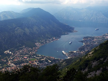 aerial view of the Bay of Kotor
