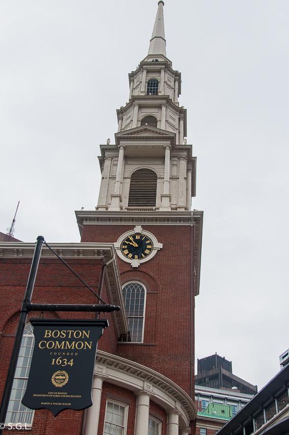 Park Street Church in Boston Massachusetts