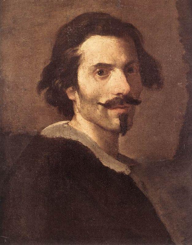 Bernini, Self Portrait, 1638 -- in the Borghese Gallery in Rome