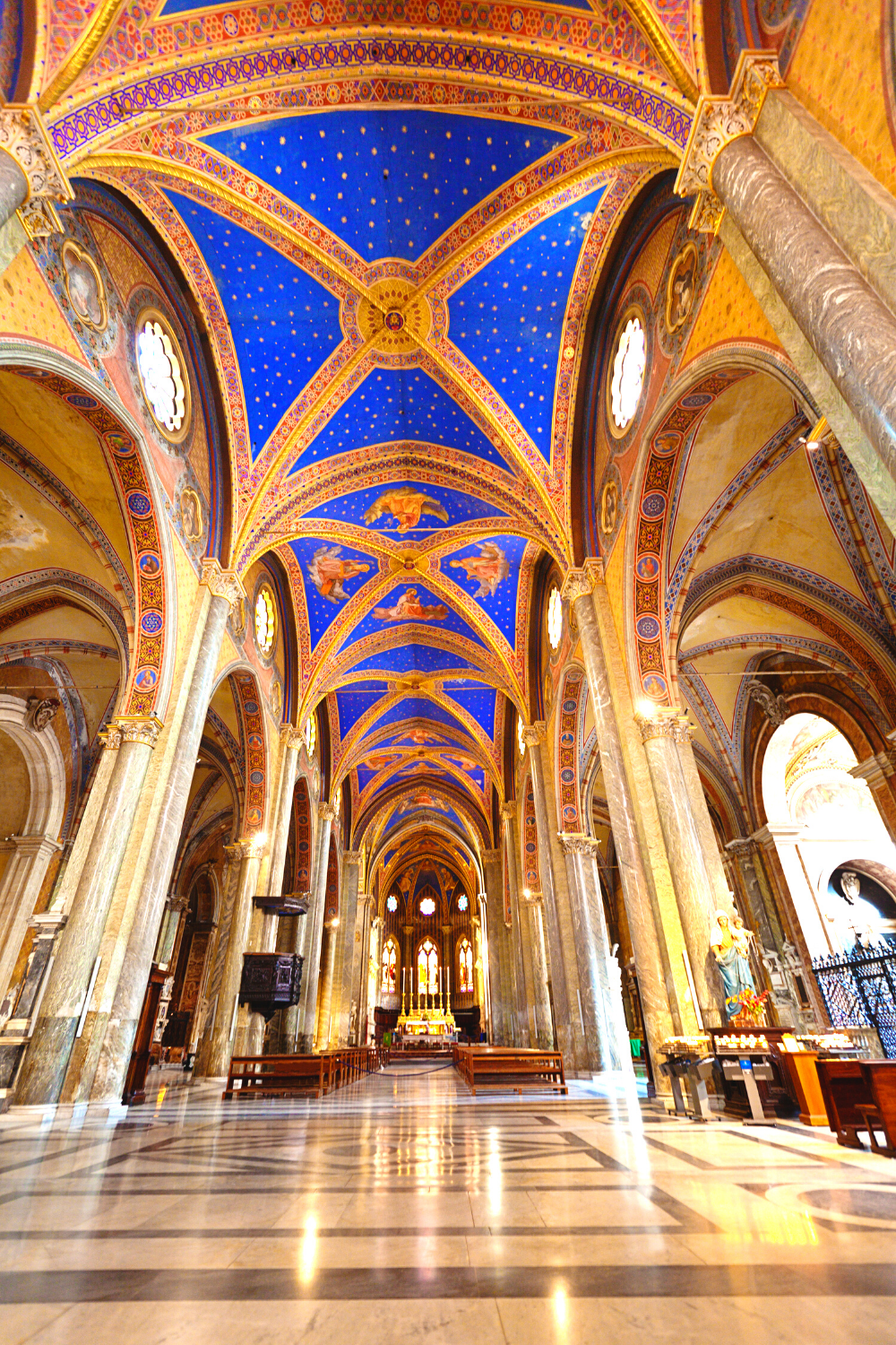 nave and beautiful vaulted ceiling