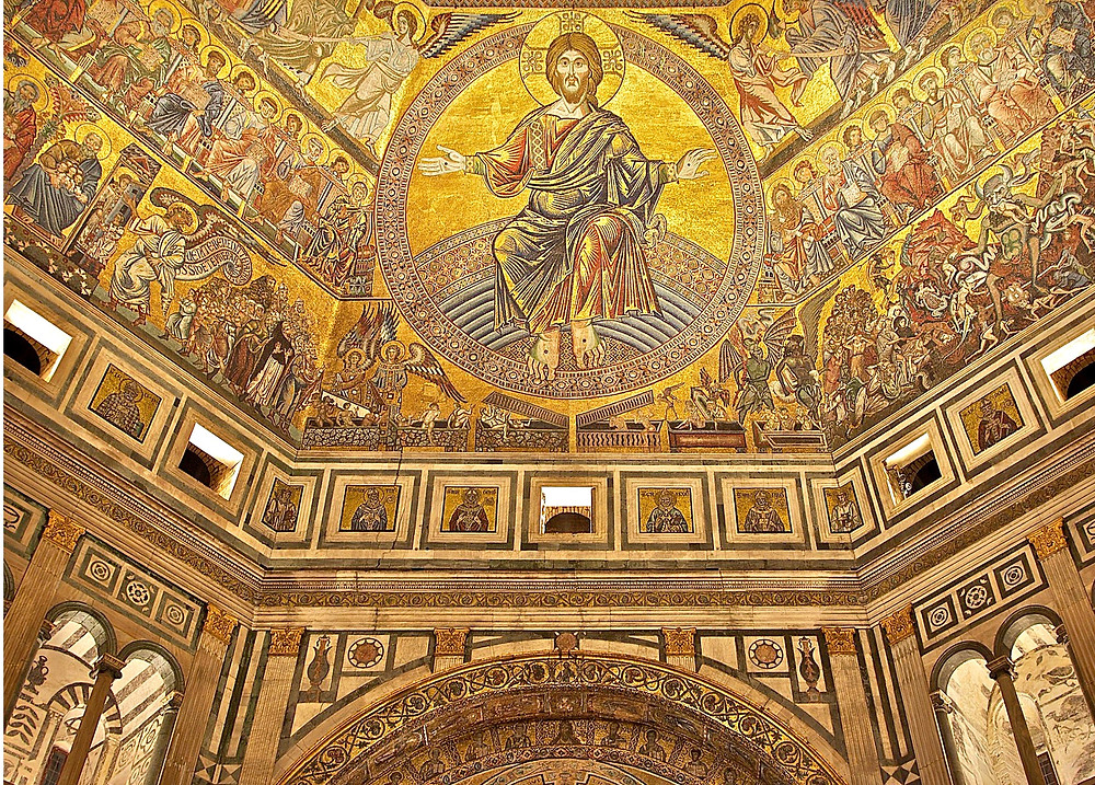 the Last Judgment mosaic in the Florence baptistery