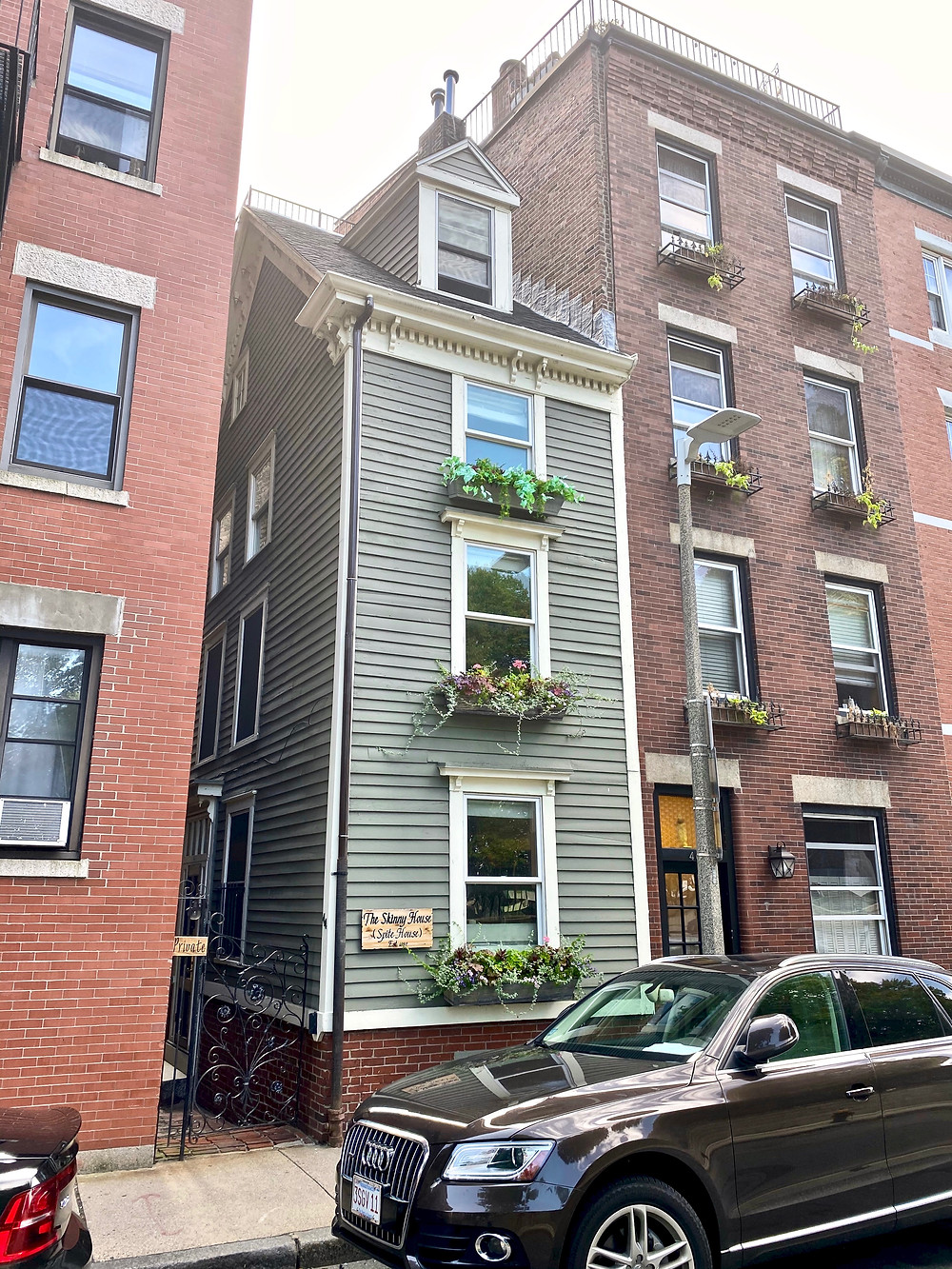the Skinny House in Boston's North End