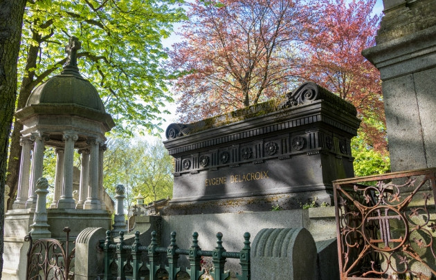 the grave of the French Romantic Painter Eugene Delacroix