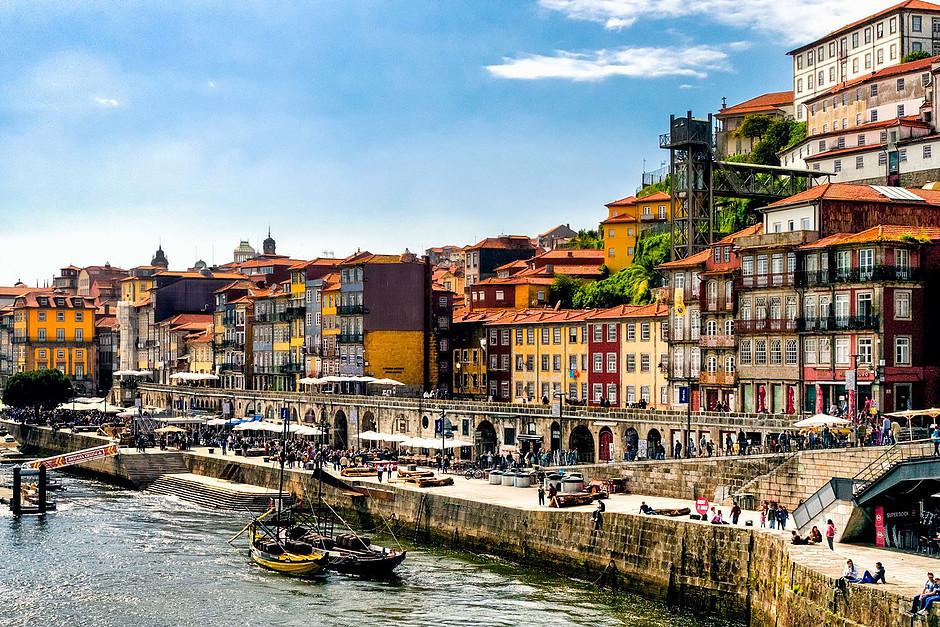 Cais de Ribeira in Porto Portugal