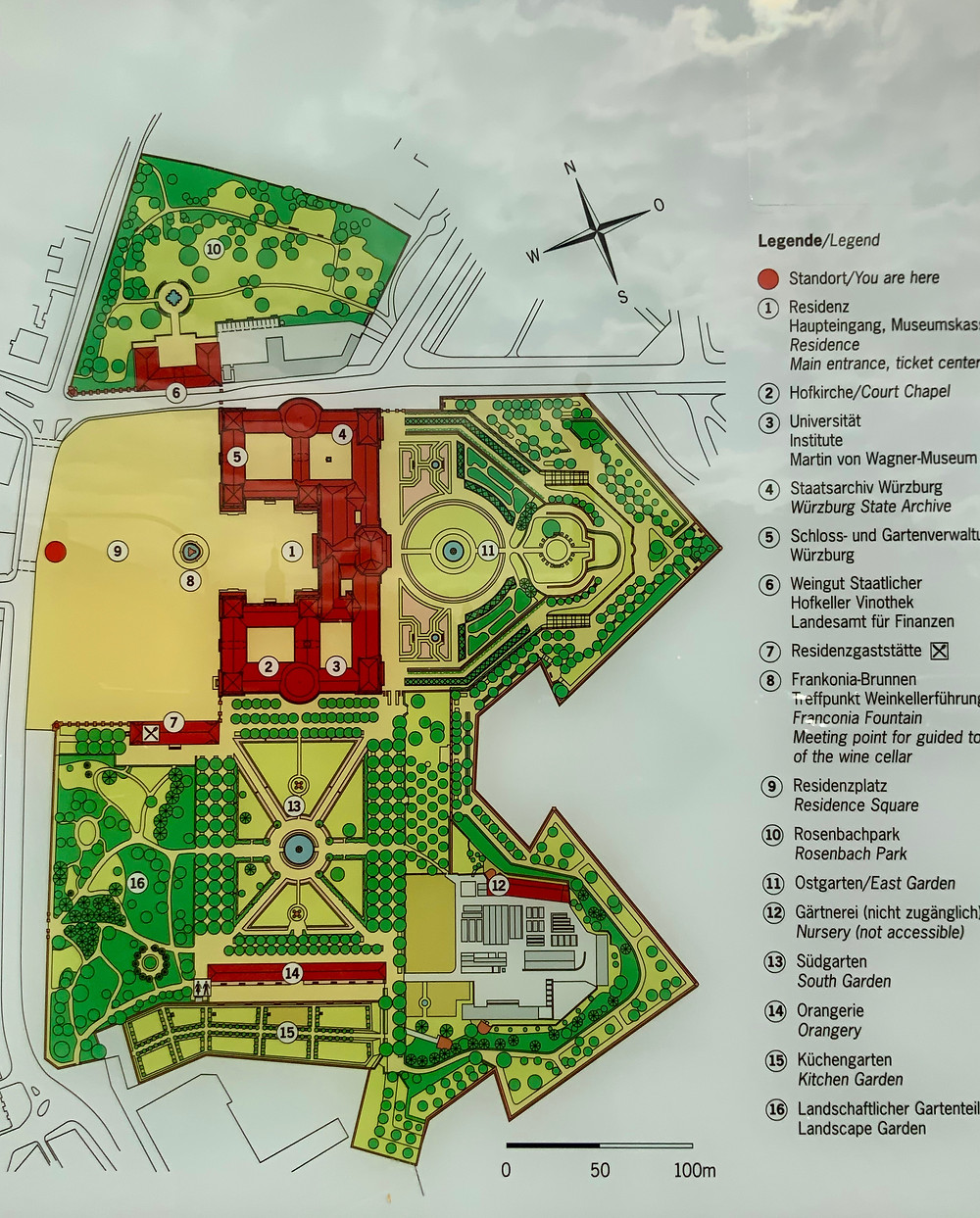 Here's a map of the Wurzburg Residenz, the gardens, and chapel