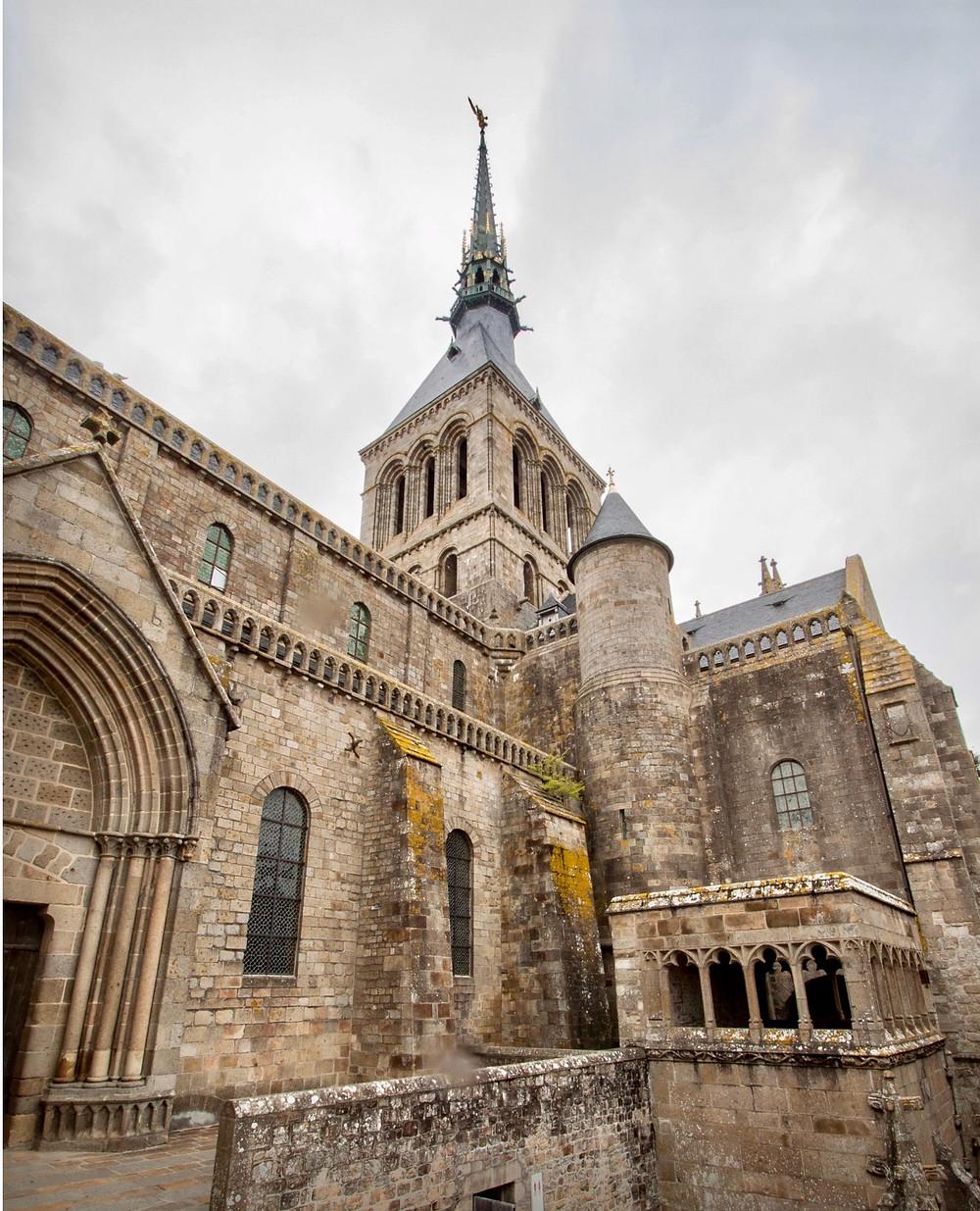 the abbey church Mont Saint-Michel
