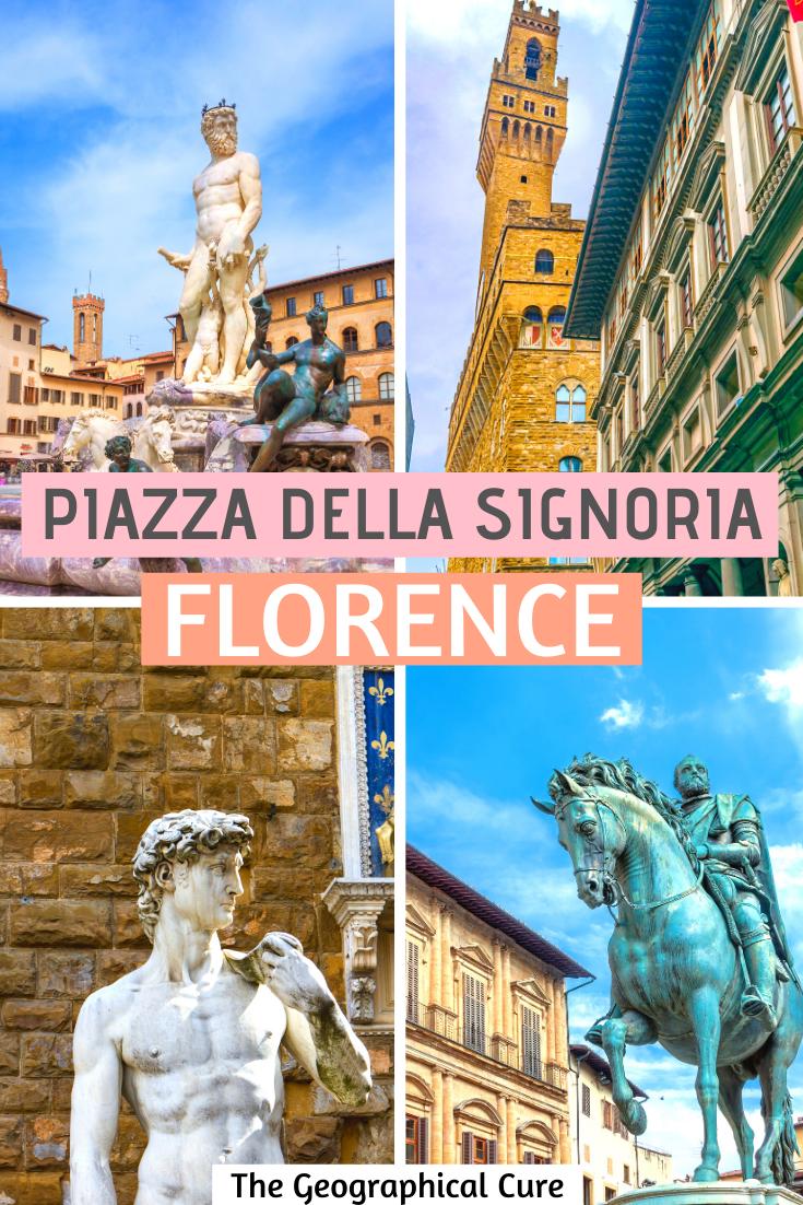 guide to the statues of the Piazza della Signoria in Florence