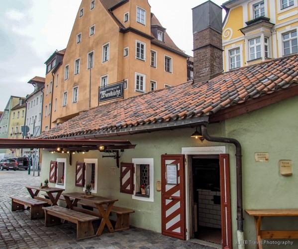 the Wurstkuchl sausage kitchen