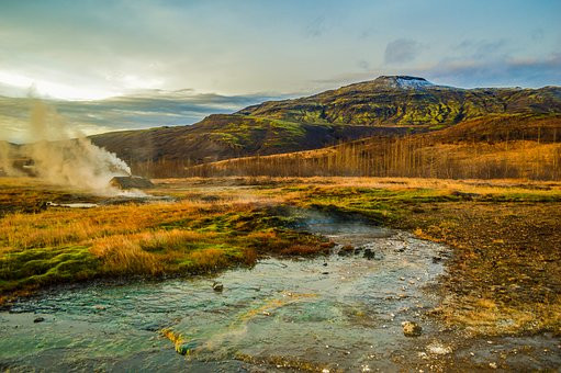 Haukadalur thermal geyser area