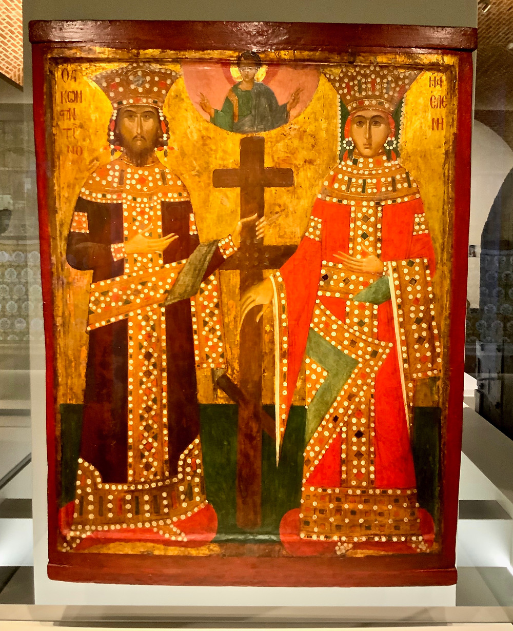 Emperor Constantine and Empress Helena with the one true cross